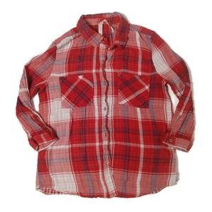Seven7 Flannel Button Down Size Small